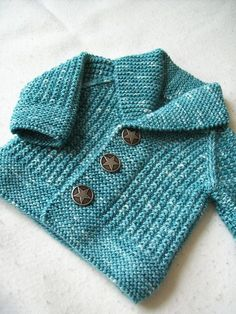 Baby Knitting Patterns Ravelry: Oscar pattern by Lili Comme Tout. 3 months to 8 yea… (NewBorn Baby Stuff) Knitting Patterns Boys, Baby Sweater Patterns, Knit Baby Sweaters, Knitted Baby Clothes, Boys Sweaters, Knitting For Kids, Baby Patterns, Cardigan Pattern, Crochet Patterns