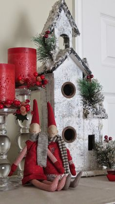 Scandinavian Christmas Decor. With My Own Two Hands. Gnomes & bird houses