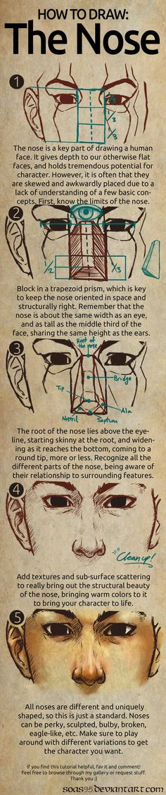 Human Nose- TUTORIAL by soas95 http://soas95.deviantart.com/art/Human-Nose-TUTORIAL-431258640