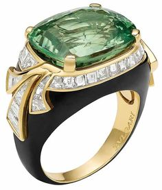 Bvlgari Emerald & Diamond Ring