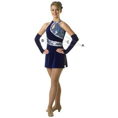 Color guard, winter guard, cheerleading uniforms, pom poms, flags, sabers: luxury tunic dress found on Polyvore