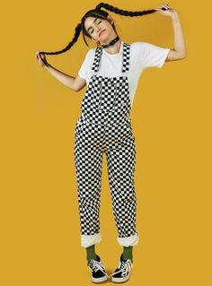 UNIF   Winx Pant - Black/Yellow Plaid