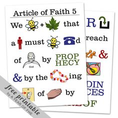 articles of faith printables.