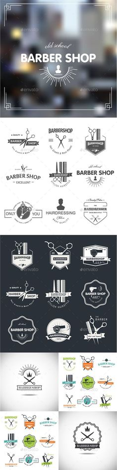 Barbershop Badges Vector Template #design Download: http://graphicriver.net/item/-barbershop/11239196?ref=ksioks
