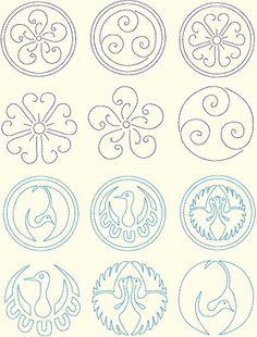Sashiko-Inpired Circle 2 Designs by Murphy's Designs