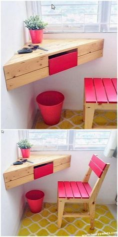 8 Beautiful Pallet Furniture Designs For Your Next Project.- 8 Beautiful Pallet Furniture Designs For Your Next Project 8 Beautiful Pallet Furniture Designs For Your Next Project # - Pallet Furniture Designs, Wooden Pallet Furniture, Furniture Projects, Wood Pallets, Furniture Making, Home Furniture, Cheap Furniture, Furniture Plans, Mirror Furniture