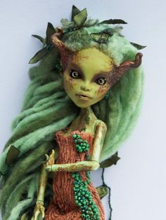 OOAK Monster High Custom Art Doll: Xantha by lesley