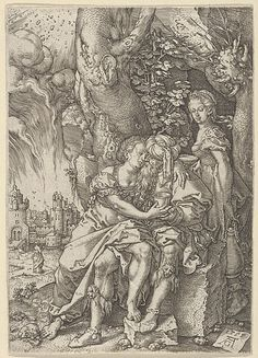 Lot with His Daughters, from The Story of Lot - Heinrich Aldegrever