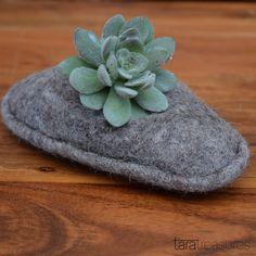 Felt Plant Cozy - keep your succulents warm and happy #succulents