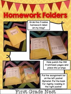Second Grade Nest: Homework for First and Second Graders