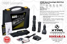 XTAR B20 Pilot Led Flashlight 1000 Lumen Available At 911 Gear Tactical