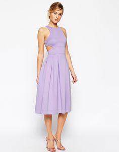 Image 1 ofASOS Crop Top Midi Debutant Scuba Dress
