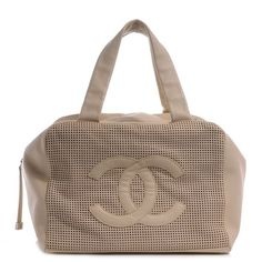 Chanel Leather Perforated Bowler Shoulder Bag $1,750
