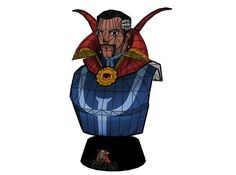 Marvel Comics - Doctor Strange Bust Free Papercraft Download - http://www.papercraftsquare.com/marvel-comics-doctor-strange-bust-free-papercraft-download.html#Bust, #DoctorStrange, #DrStrange, #MarvelComics