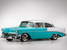 My Mom had this exact car 56 Chevy Bel Air Bel Air Car, 1956 Chevy Bel Air, Chevrolet Bel Air, Chevrolet Sedan, 1955 Chevy, Fancy Cars, Cool Cars, Automotive Photography, Us Cars