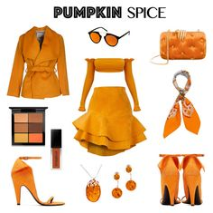 """Pumpkin October!🎃"" by anastasia-fashion on Polyvore featuring Siobhan Molloy, MARY JANE, Calvin Klein 205W39NYC, Benedetta Bruzziches, Spektre, Hermès, Be-Jewelled and MAC Cosmetics"