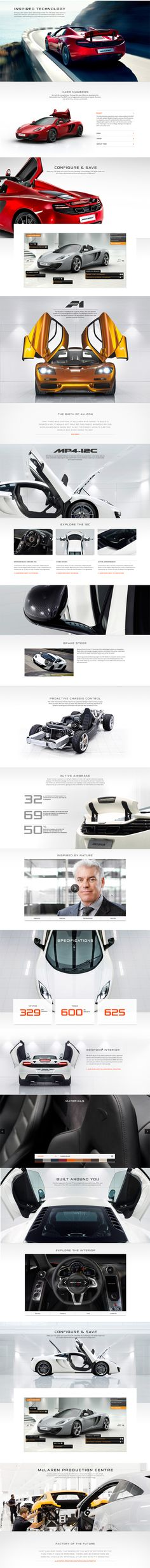 McLaren Automotive Website by Thomas Moeller, via Behance