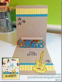 You Rocked It! card with Congrats Pop `n Cuts by @Gretchen Schaefer Schaefer Schaefer