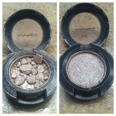 "A great tip to make that old crushed eye shadow etc that you dropped and broke ""new"" again"