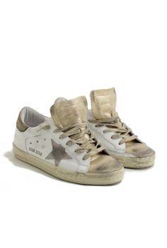Golden Goose sneakers superstar gold/white suede star Golden Goose