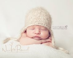 Knitting PATTERN - Knit Baby Hat Pattern - Earflap Hat