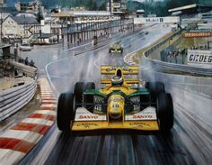 Most popular last «Cma 059 schumacher scores his first gp victory in benneton ford «In album - Motosport «cyber wallpaper - search results «Anime wallpapers Belgium Grand Prix, Michael Turner, Speed Art, Car Painting, Turner Painting, Car Drawings, Realistic Drawings, Michael Schumacher, Car Posters