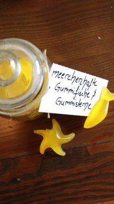 """""""Meer""""chenhafte Gummisterne und -fische"""
