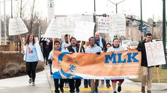 Students celebrate Martin Luther King day, 2016.