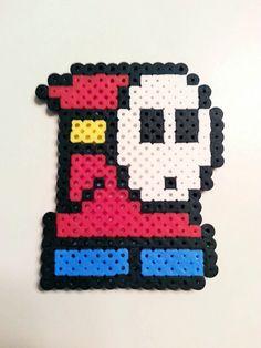 Super Mario Shy Guy Perler Bead by BusyBeadsOhio on Etsy
