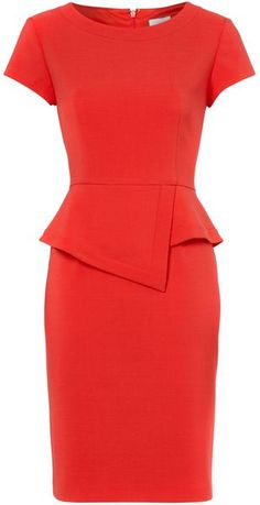 Untold Short Sleeve Fitted Peplum Detail Dress in Red - Lyst Dressy Dresses, Cute Dresses, Short Sleeve Dresses, Peplum Dresses, Dress Red, Dress Clothes, Office Dresses, Dresses For Work, Latest African Fashion Dresses