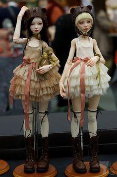 Yukidoll - Yuki and Katya, polyurethane shown at the International Doll Salon in Moscow, Spring 2015 Ooak Dolls, Reborn Dolls, Blythe Dolls, Pretty Dolls, Beautiful Dolls, Zbrush, Enchanted Doll, Barbie, Doll Repaint