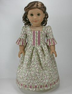 18 inch doll clothes for American Girl Dolls - Tea Dress for Felicity or Elizabeth. $22.50, via Etsy.