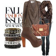 fall fashion, created by ashleylynnadams on Polyvore