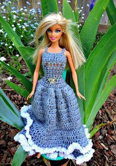 Free Crochet Gorgeous Doll Dress Pattern - 20 Free Crochet Barbie Clothes Pattern - DIY & Crafts
