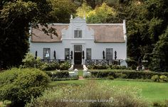 Photos and pictures of: Lanzerac vineyard, manor house, Cape Dutch architecture, Stellenbosch, South Africa - The Africa Image Library Studios Architecture, Classical Architecture, Beautiful Architecture, Architecture Details, Cape Dutch, Dutch House, Dutch Colonial, English House, White Houses