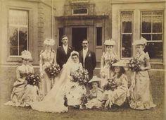 Victorian wedding party, Giant Cabinet Photo, Birmingham