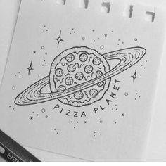 Pin by franzi meierhöfer on draw in 2019 drawings, planet drawing, space dr Space Drawings, Easy Drawings, Pizza Drawings, Simple Tumblr Drawings, Hipster Drawings, Pizza Tattoo, Planet Drawing, Drawing Sketches, Drawing Ideas