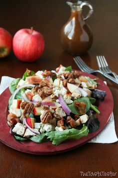 Fall Apple Chicken Salad with Garlic Dijon Vinaigrette