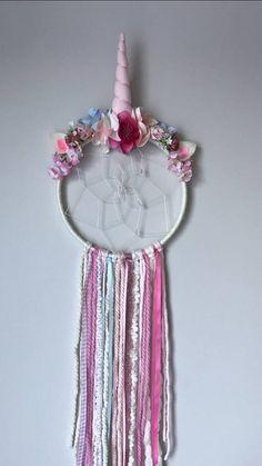 Unicorn Dreamcatcher, Pink Unicorn Dreamcatcher, little girls room unicorn decor, unicorn theme, unicorn gift, magical, unicorn birthday