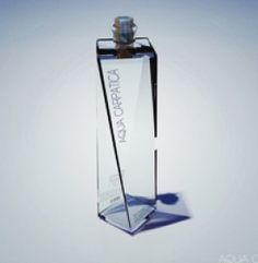 Auqa Carpatica Spin Bottle Glass Design Packaging