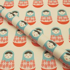 Russian Doll Wrapping Paper I now featured on Fab. #Matryoshka #Russian #Doll