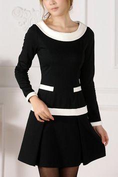 Elegant Color Block Dress OASAP.com $100.00