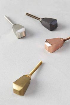 Glinted Prism Knob - for bangle holder (to sort by finish? Dresser Drawer Knobs, Cabinet Knobs, Drawer Pulls, Cabinet Hardware, Knobs And Handles, Knobs And Pulls, Door Handles, Drawer Handles, Kallax