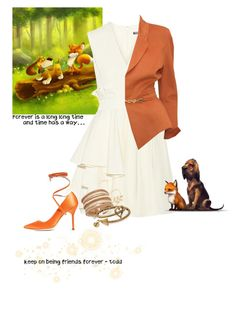"""""""Todd - The Fox and the Hound"""" by krgood7 ❤ liked on Polyvore featuring Alexander McQueen, Thierry Mugler, Vetements, Miss Selfridge, INC International Concepts and Alex and Ani"""