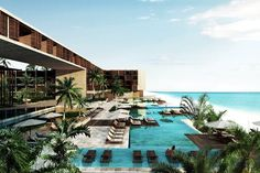 19 Places You Need To See ASAP (Seriously, Wow) #refinery29  http://www.refinery29.com/amazing-new-hotel-destinations#slide-9  Grand Hyatt Playa Del CarmenSun,