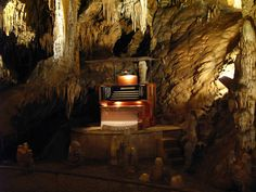 Luray Cavern, VA  - Located in the Cathedral is the Great Stalacpipe Organ, the world's largest musical instrument. #travel