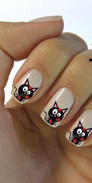 Cat Nail Art reminds me of @Kitty Edisto Edisto