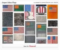 Follow Jasper Johns Flags curated by Joseph K. Levene Fine Art, Ltd. on Pinterest