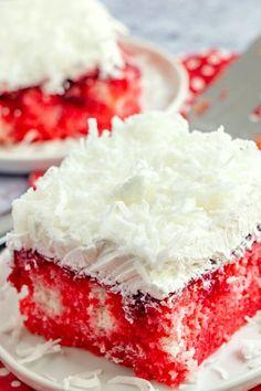 Dessert Cake Recipes, Desserts To Make, Zinger Cake Recipe, Raspberry Zinger Cake, New Recipes, Cheap Recipes, Simple Recipes, Quick Recipes, Recipes Dinner