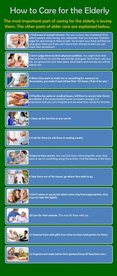 How to Care for the Elderly infographic | | www.CareAdvantageInc.com
